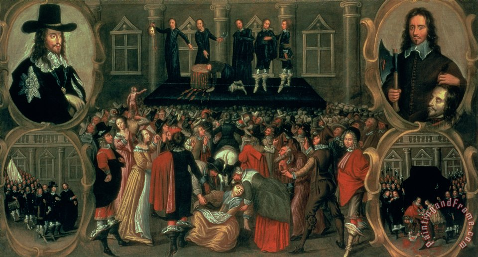 John Weesop An Eyewitness Representation of the Execution of King Charles I Art Painting