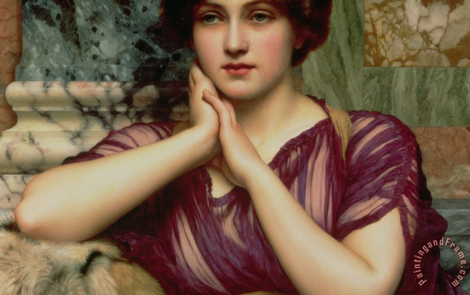 A Classical Beauty painting - John William Godward A Classical Beauty Art Print