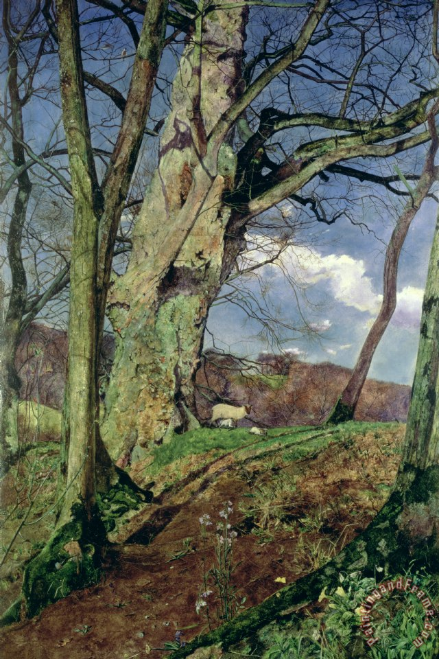 In Early Spring painting - John William Inchbold In Early Spring Art Print