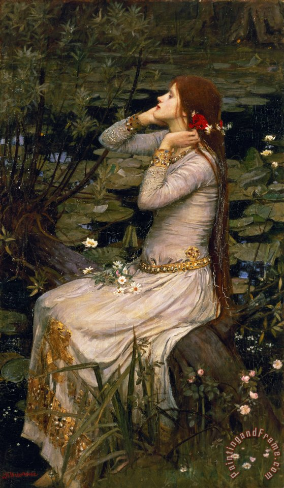 Ophelia painting - John William Waterhouse Ophelia Art Print