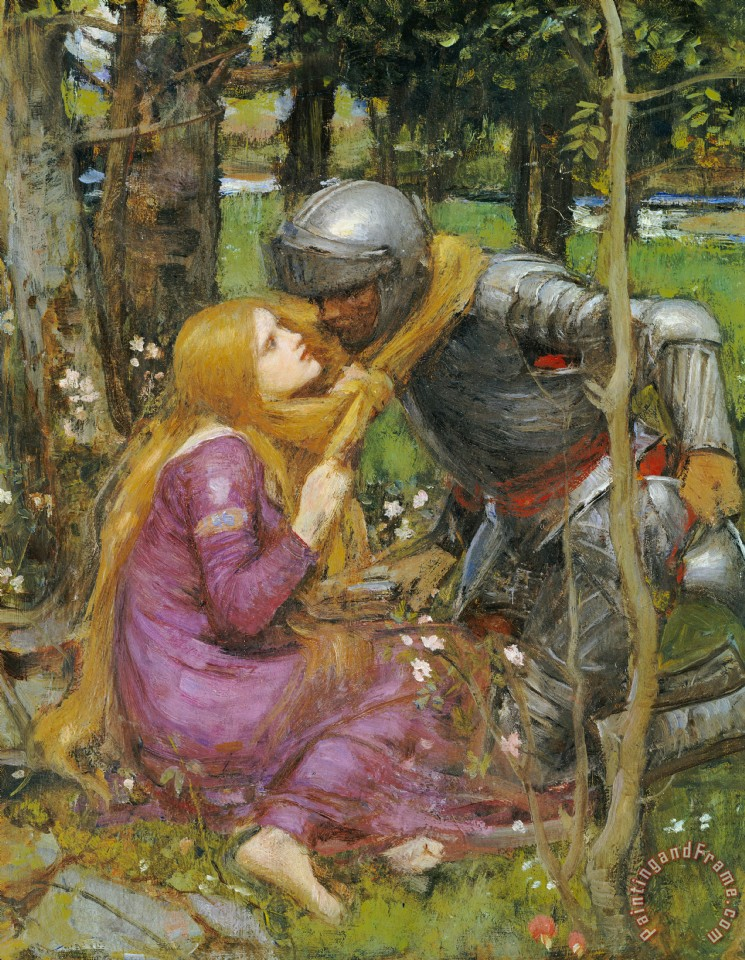 A Study For La Belle Dame Sans Merci painting - John William Waterhouse A Study For La Belle Dame Sans Merci Art Print
