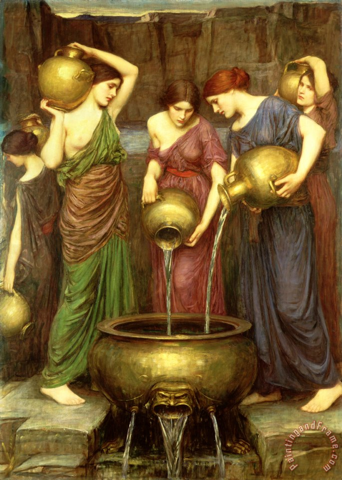 Danaides painting - John William Waterhouse Danaides Art Print
