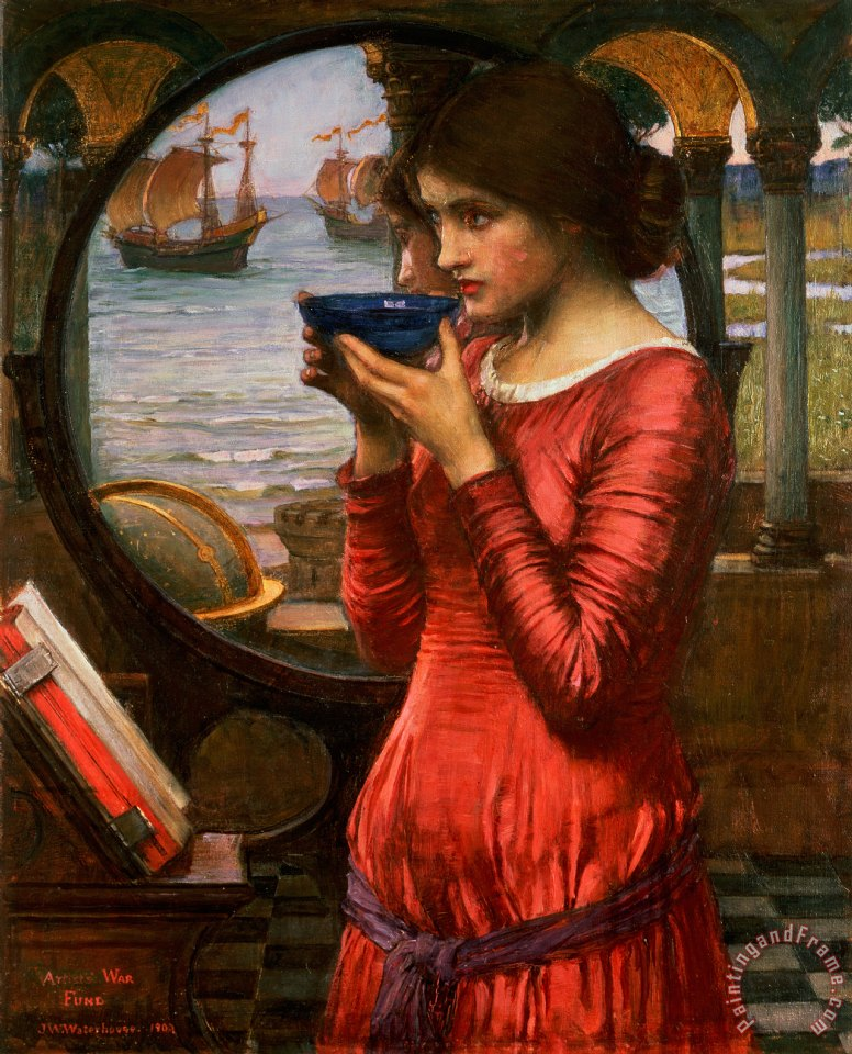 Destiny painting - John William Waterhouse Destiny Art Print