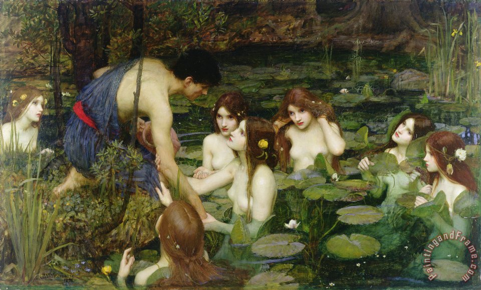 John William Waterhouse Hylas and the Nymphs Art Print