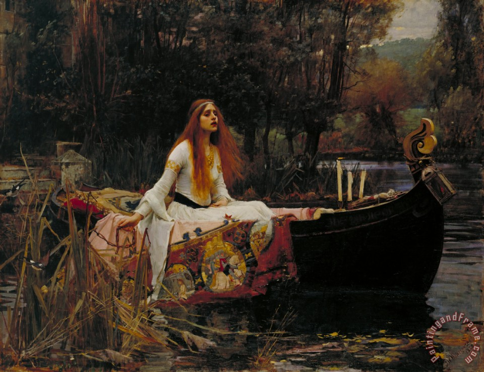 Lady Of Shalott painting - John William Waterhouse Lady Of Shalott Art Print