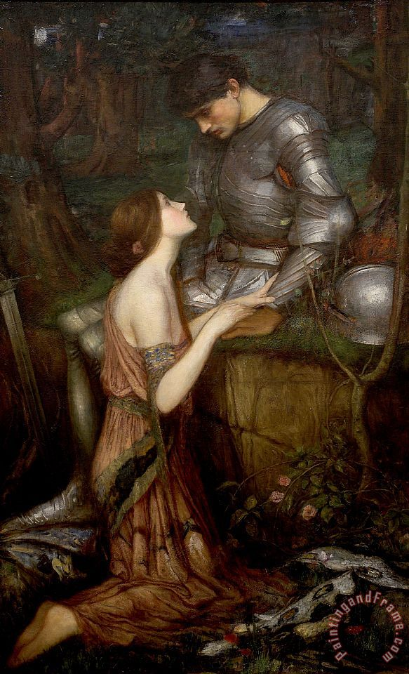 Lamia painting - John William Waterhouse Lamia Art Print