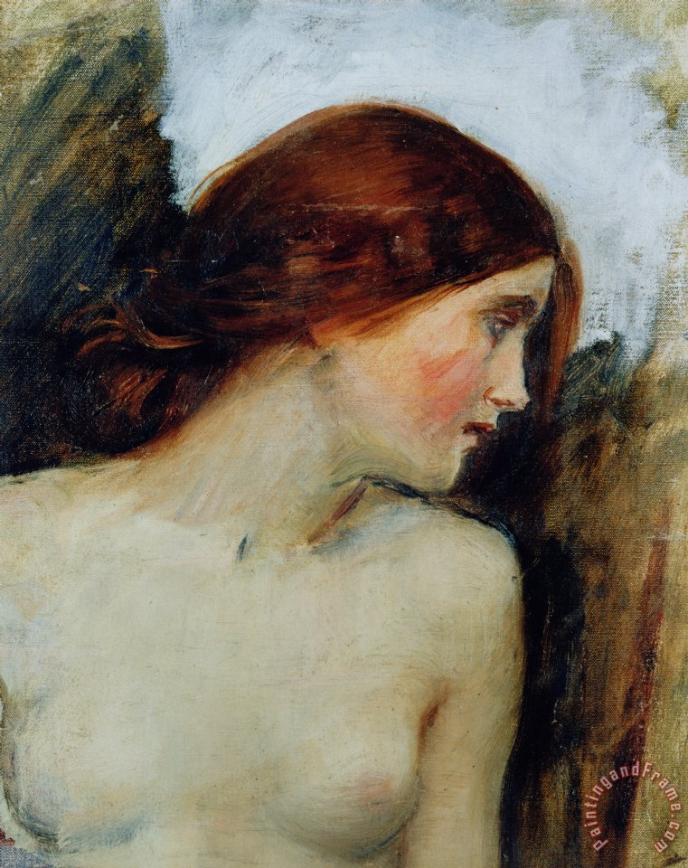 Study for the Head of Echo painting - John William Waterhouse Study for the Head of Echo Art Print
