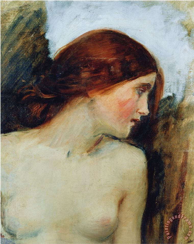 Study for The Head of Echo C 1903 Oil on Canvas See 55607 painting - John William Waterhouse Study for The Head of Echo C 1903 Oil on Canvas See 55607 Art Print