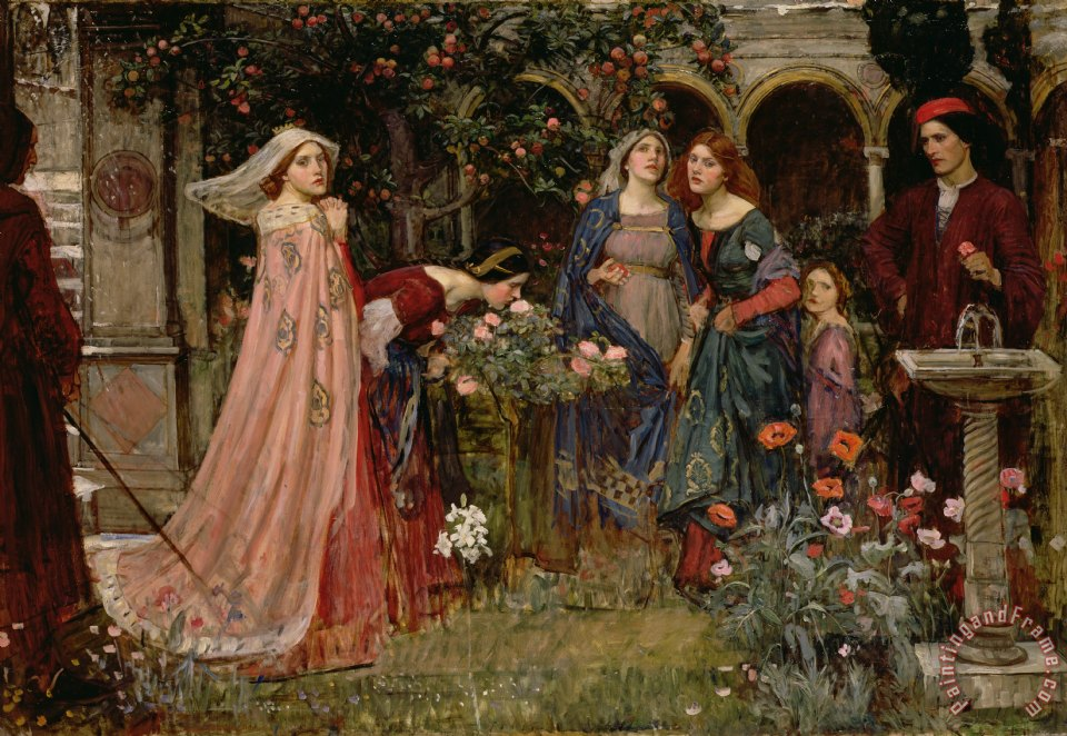 The Enchanted Garden painting - John William Waterhouse The Enchanted Garden Art Print
