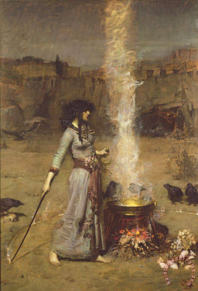 The Magic Circle painting - John William Waterhouse The Magic Circle Art Print