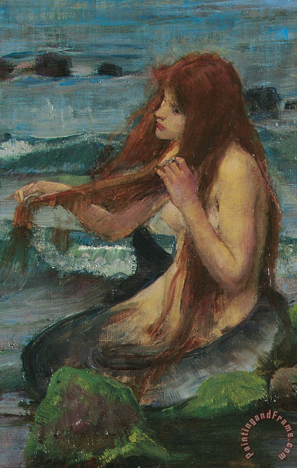 The Mermaid painting - John William Waterhouse The Mermaid Art Print
