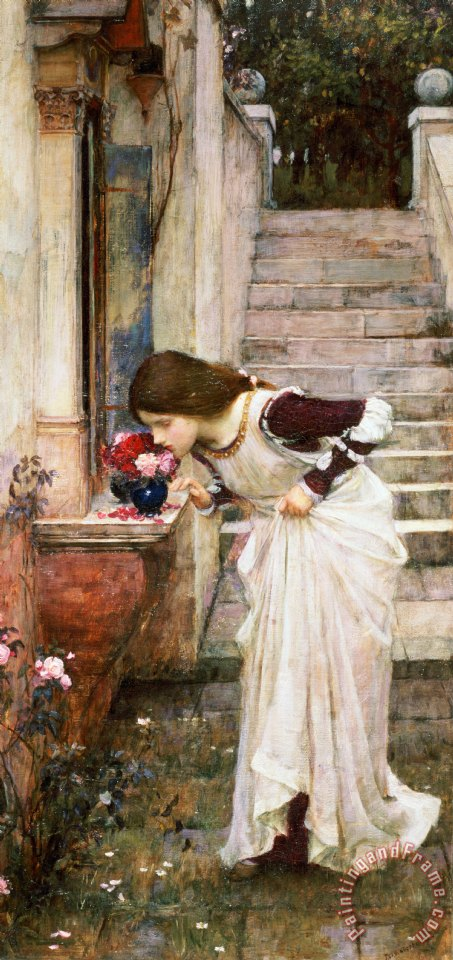 The Shrine painting - John William Waterhouse The Shrine Art Print