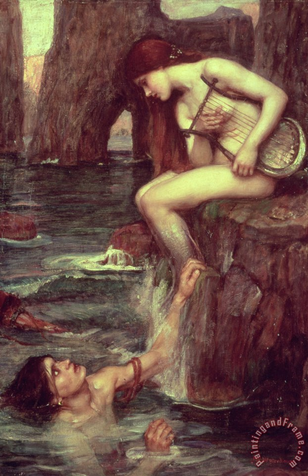 The Siren painting - John William Waterhouse The Siren Art Print