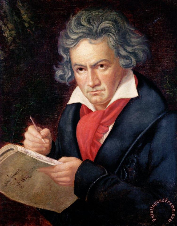 joseph carl stieler ludwig van beethoven composing his