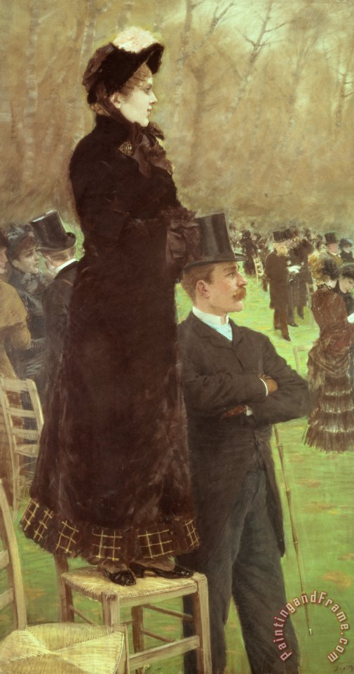 The Races at Auteuil painting - Joseph de Nittis The Races at Auteuil Art Print