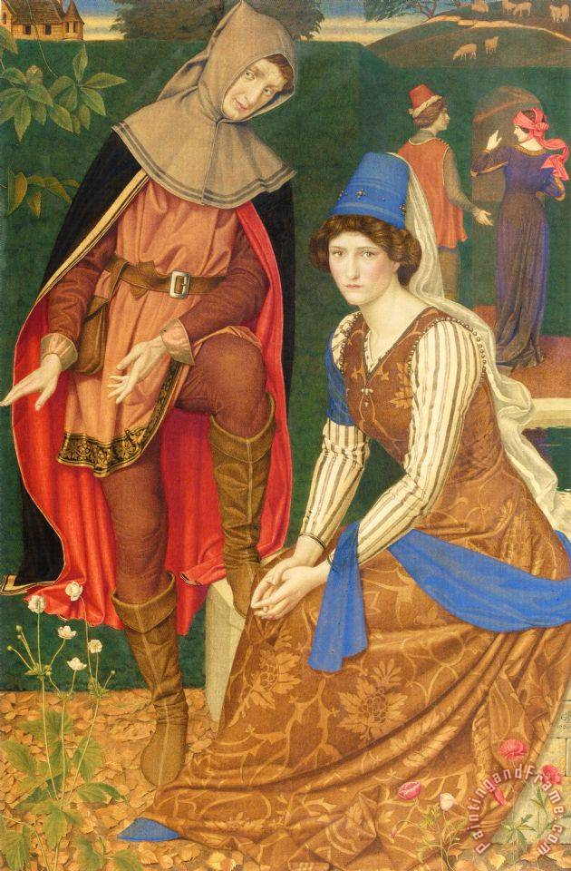 Joseph Edward Southall The Nut Brown Maid Art Painting