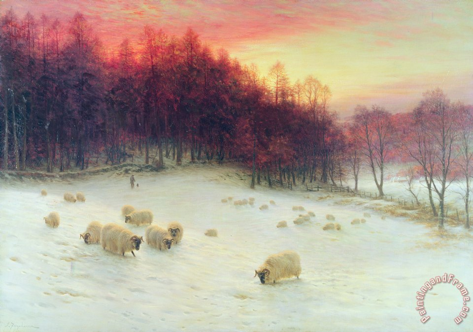 When the West with Evening Glows painting - Joseph Farquharson When the West with Evening Glows Art Print
