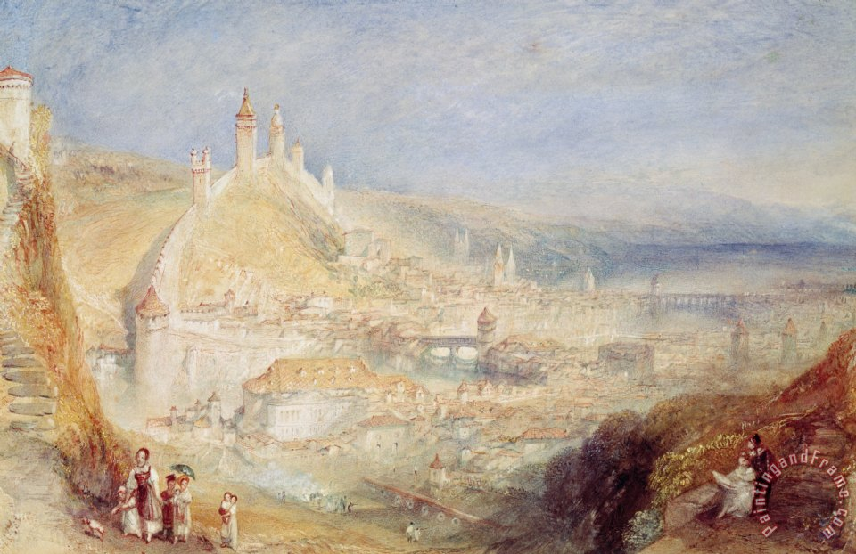 Lucerne from the Walls painting - Joseph Mallord William Turner Lucerne from the Walls Art Print