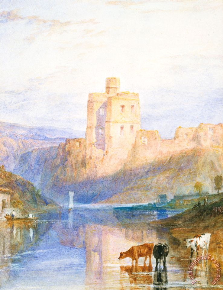 Norham Castle An Illustration To Marmion By Sir Walter Scott painting - Joseph Mallord William Turner Norham Castle An Illustration To Marmion By Sir Walter Scott Art Print