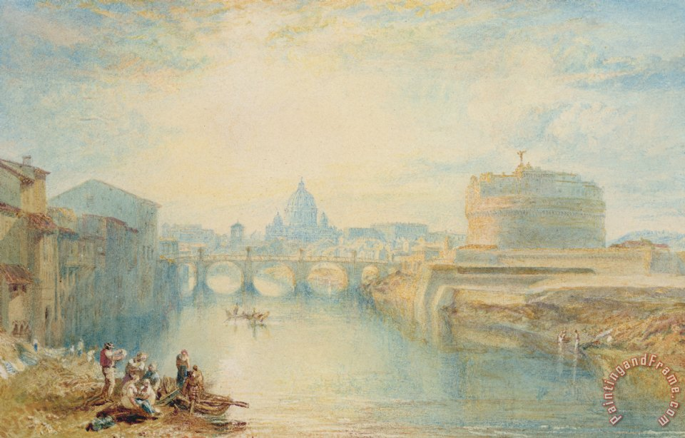 Rome painting - Joseph Mallord William Turner Rome Art Print