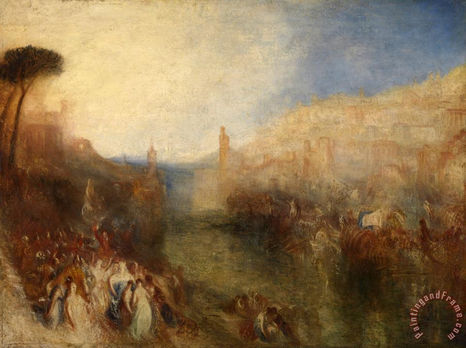 The Departure of The Fleet painting - Joseph Mallord William Turner The Departure of The Fleet Art Print