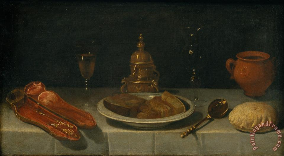Perfect Still Life And Laid Table Painting   Juan Van Der Hamen Y Leon Still Life  And