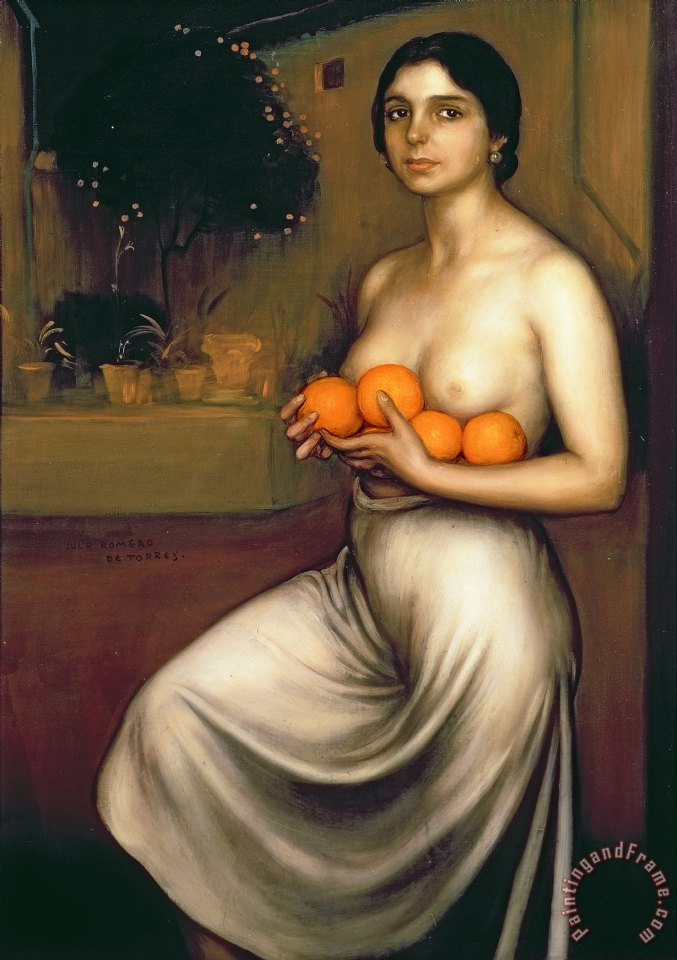 Oranges and Lemons painting - Julio Romero de Torres Oranges and Lemons Art Print