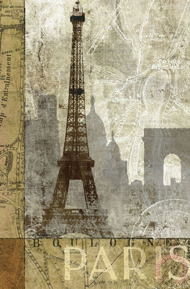 April in Paris painting - Keith Mallett April in Paris Art Print