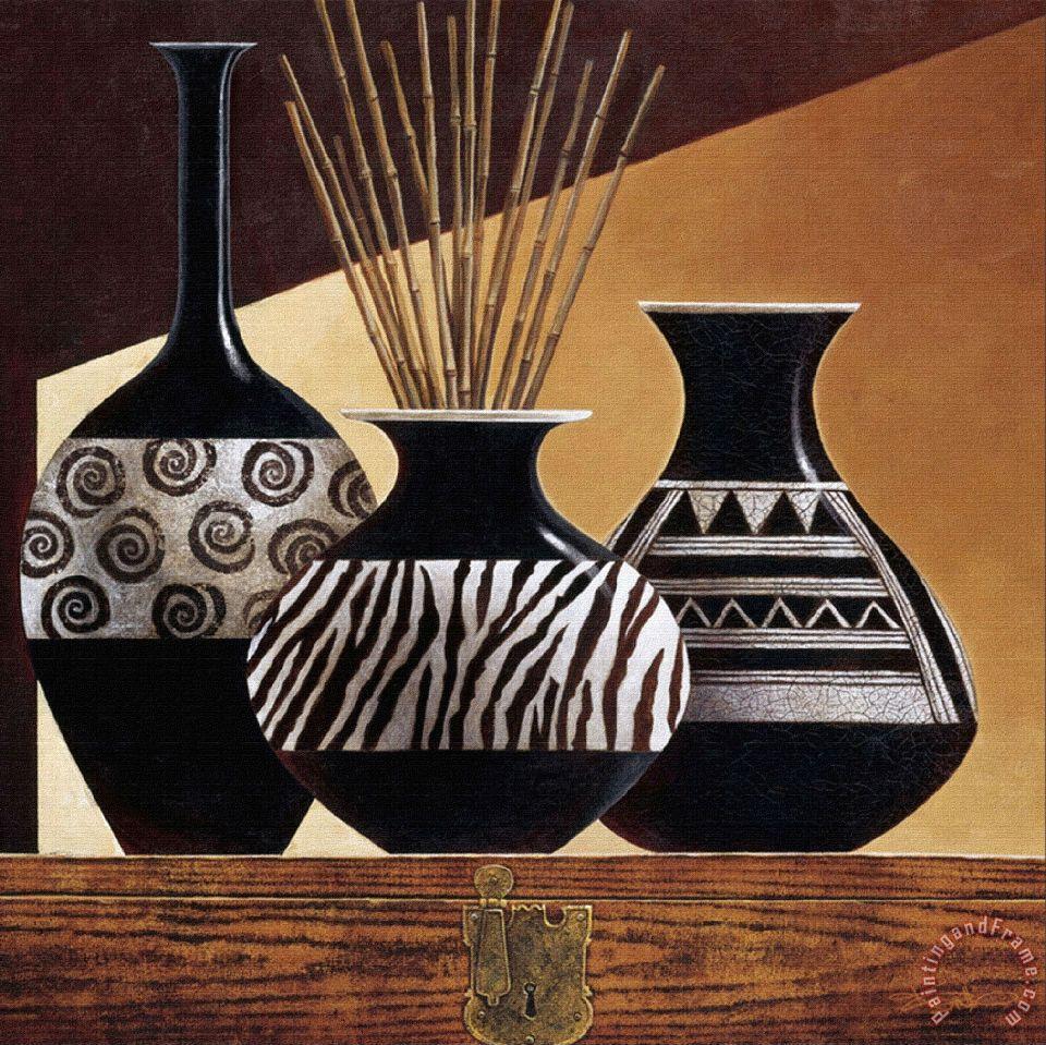 Keith mallett patterns in ebony i painting patterns in - Jarrones de ceramica ...
