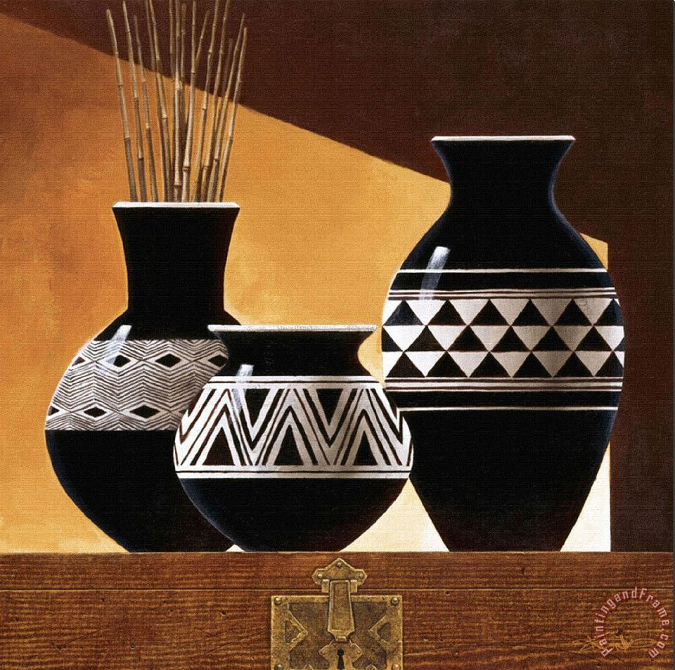 Keith Mallett Patterns In Ebony Ii Painting Patterns In