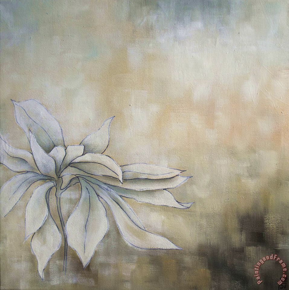 Laurie Maitland White Flowers I Painting White Flowers I Print For
