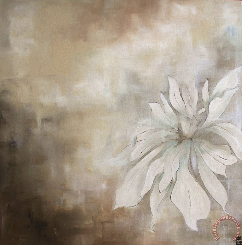 White flowers ii white flowers ii painting laurie maitland white flowers ii art print mightylinksfo