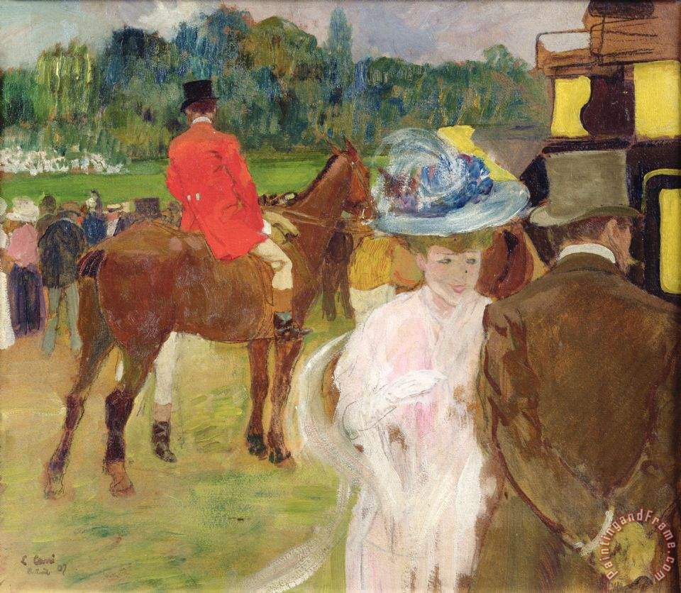 At The Races At Auteuil painting - Leon Georges Carre At The Races At Auteuil Art Print