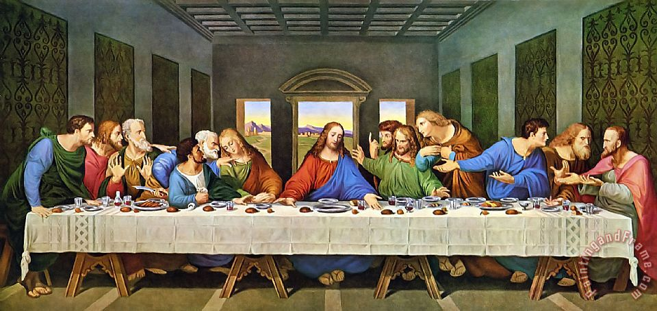 The Last Supper painting - Leonardo da Vinci The Last Supper Art Print