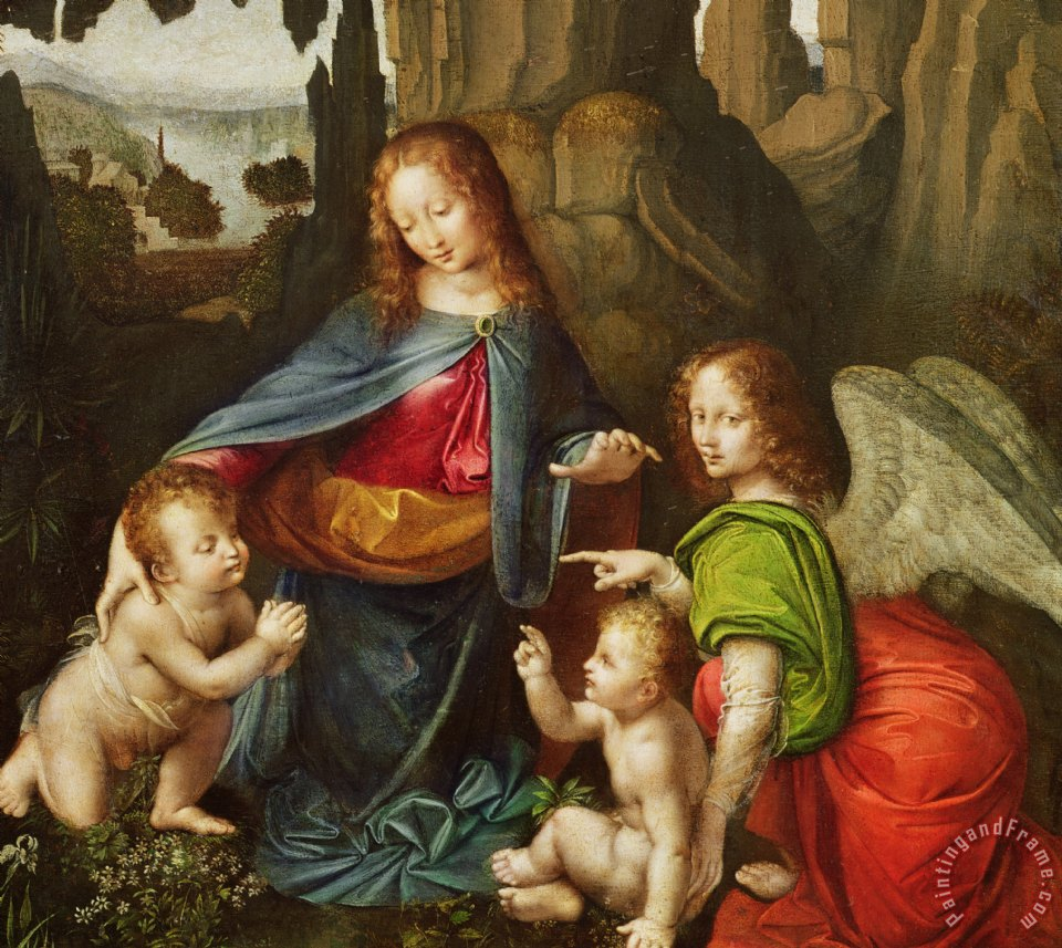 Madonna Of The Rocks painting - Leonardo da Vinci Madonna Of The Rocks Art Print
