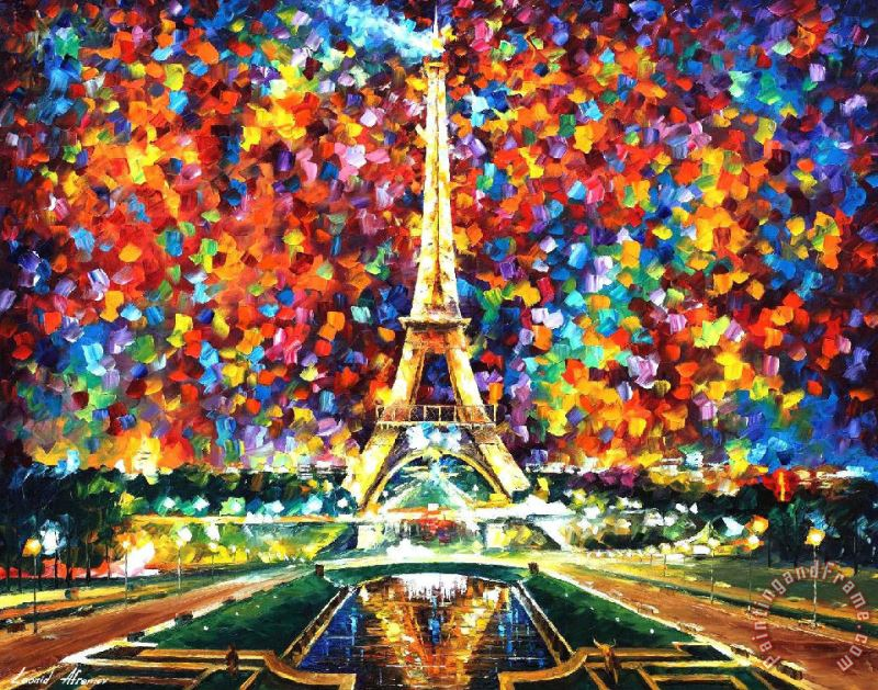 Paris of My Dreams painting - Leonid Afremov Paris of My Dreams Art Print