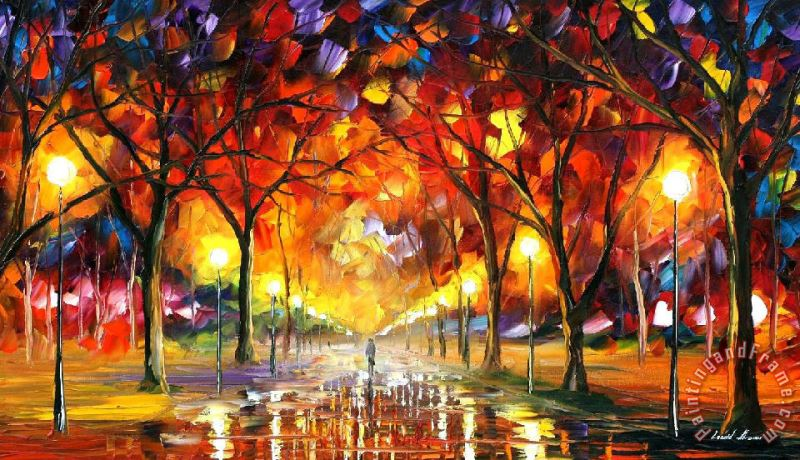 Warm Rain Drops painting - Leonid Afremov Warm Rain Drops Art Print