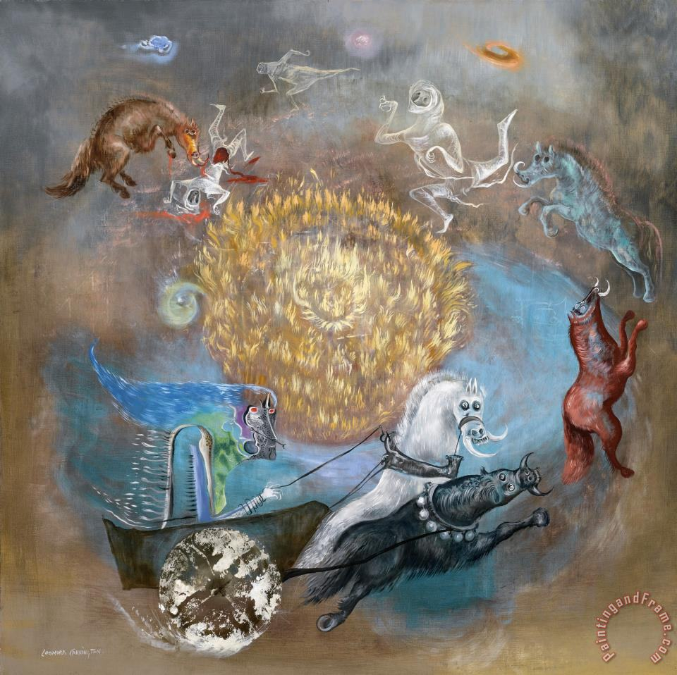 Leonora carrington the return of boadicea painting the for Art print for sale