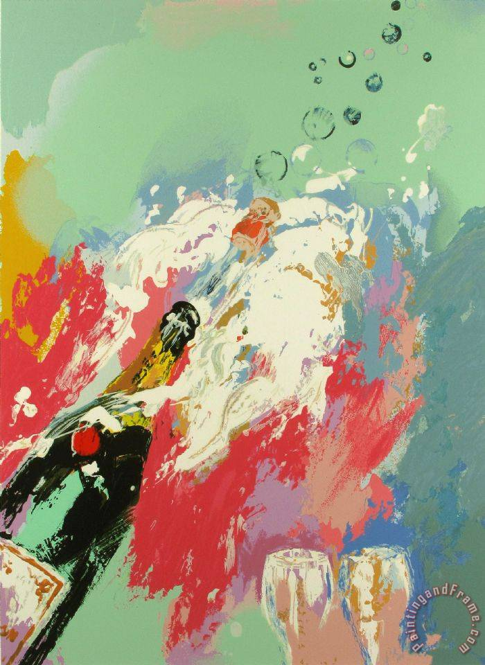 Champagne, New Years Eve painting - Leroy Neiman Champagne, New Years Eve Art Print