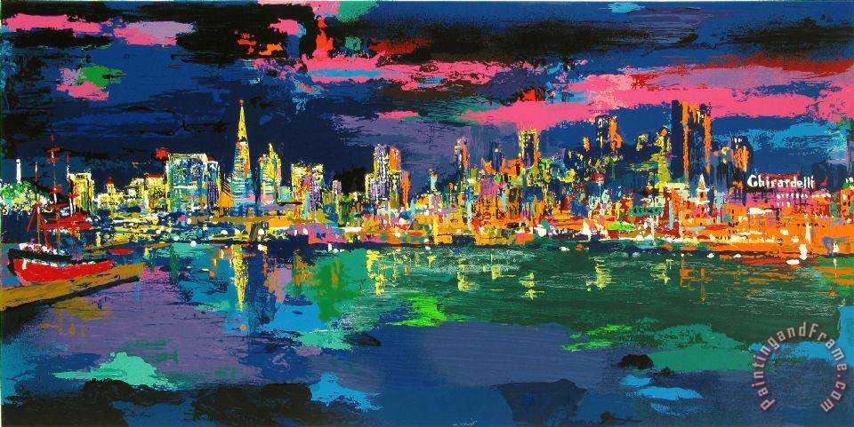 Leroy Neiman City by The Bay Art Painting