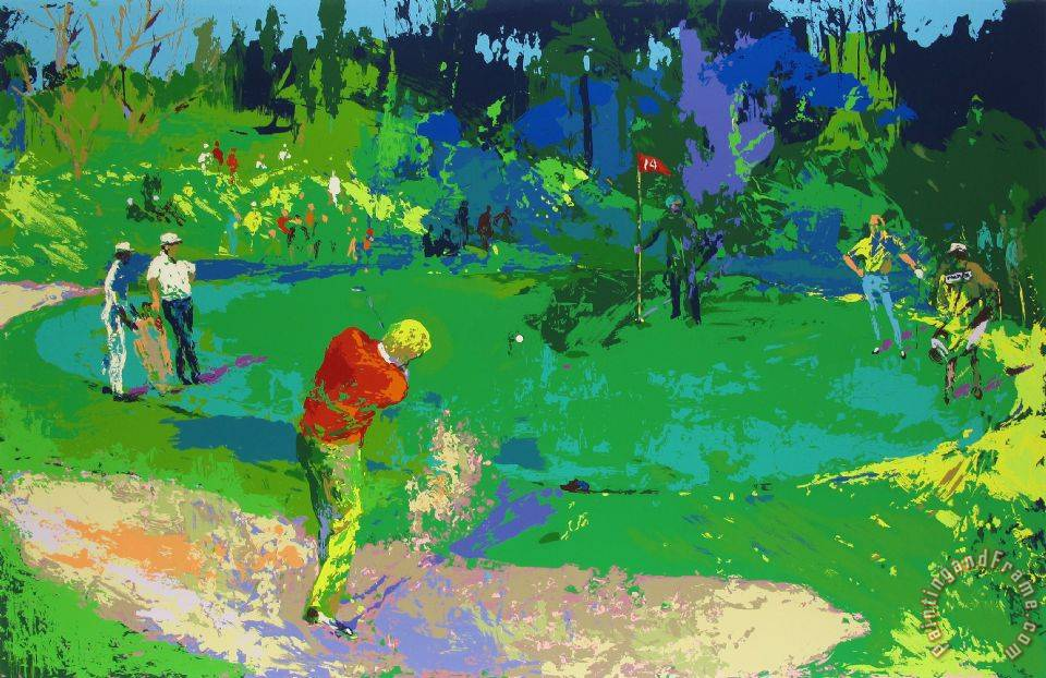 leroy neiman golf 39 s threesome trevino nicklaus palmer painting golf 39 s threesome trevino. Black Bedroom Furniture Sets. Home Design Ideas