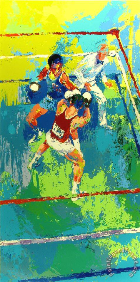 Olympic Boxing, Moscow 1980 painting - Leroy Neiman Olympic Boxing, Moscow 1980 Art Print