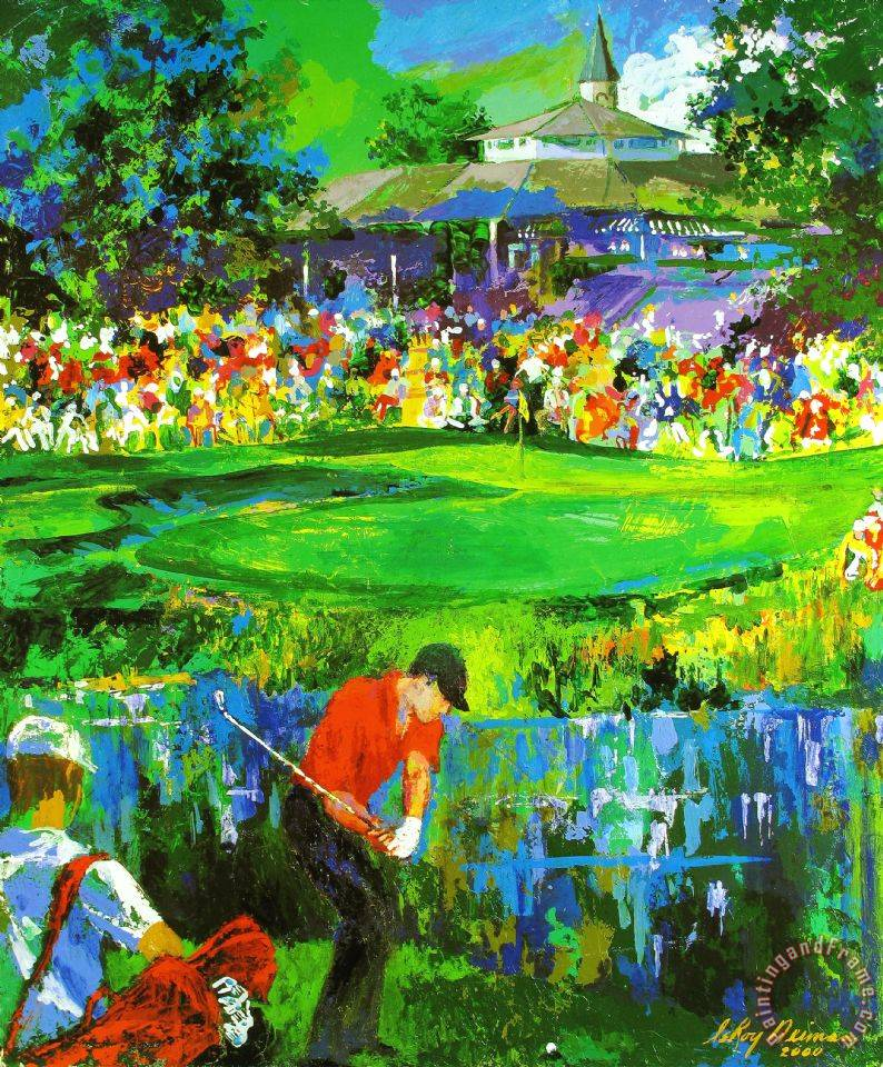 leroy neiman pga championship 2000 valhalla golf club deluxe painting pga championship. Black Bedroom Furniture Sets. Home Design Ideas