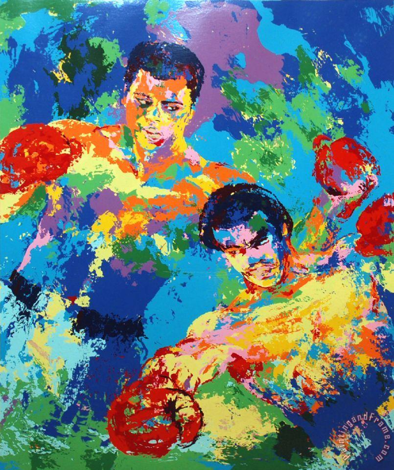 Leroy Neiman Rare Ali Painting Rare Ali Print For Sale