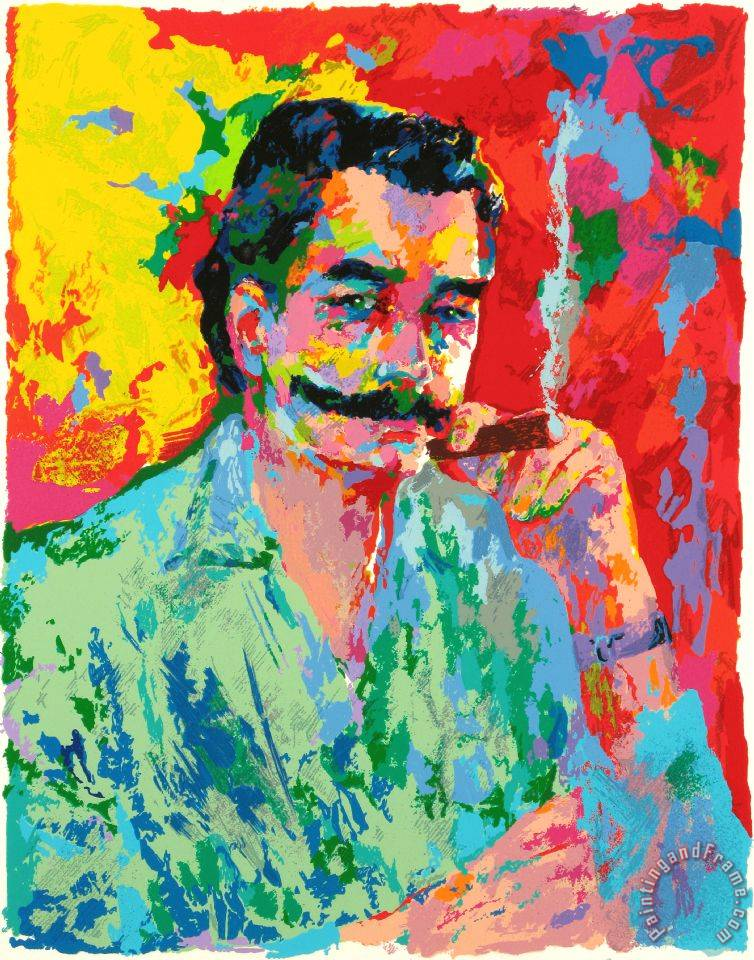 Leroy neiman the artist leroy neiman painting the artist for Painting for sale by artist