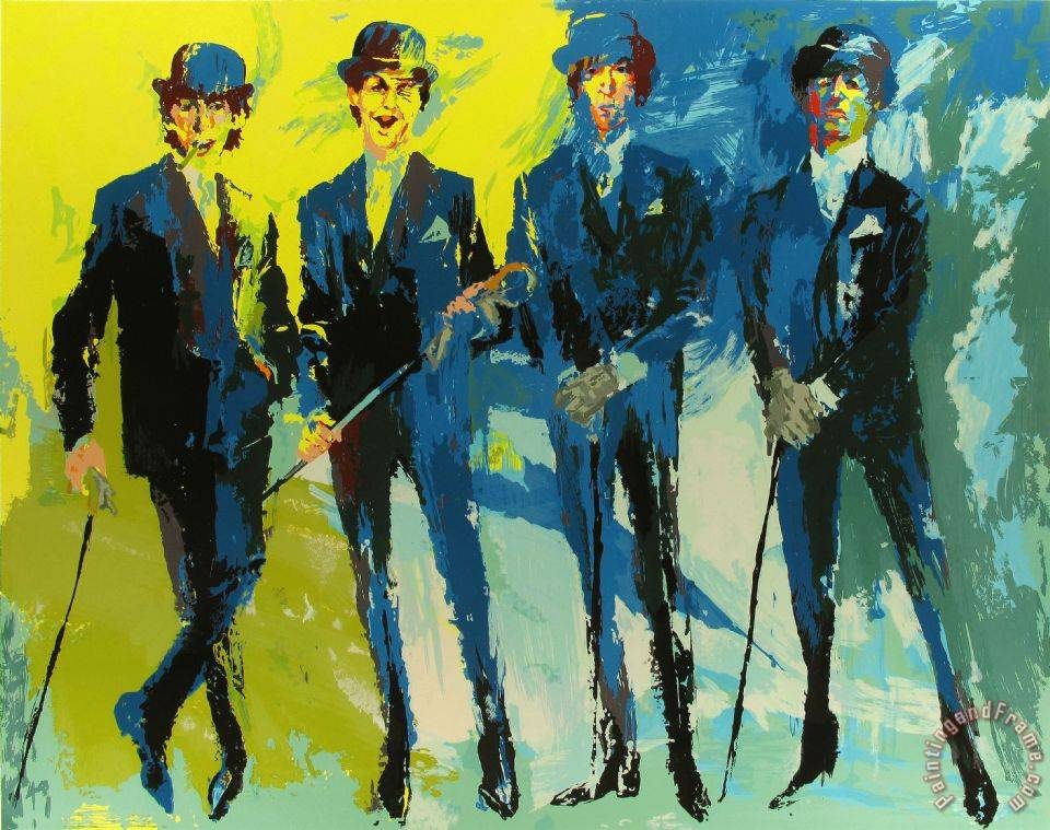 Leroy neiman the beatles painting the beatles print for sale for Abstract posters for sale