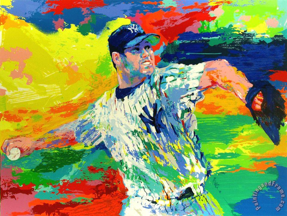 Leroy Neiman The Rocket Roger Clemens Painting The