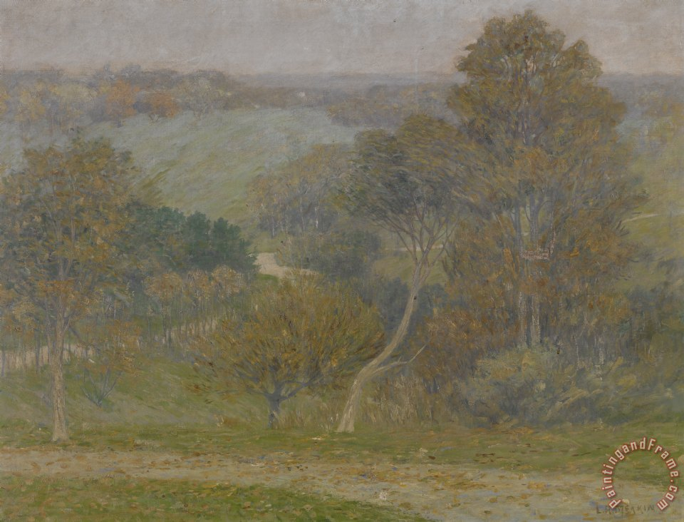 Hill and Hollow painting - Lewis Henry Meakin Hill and Hollow Art Print