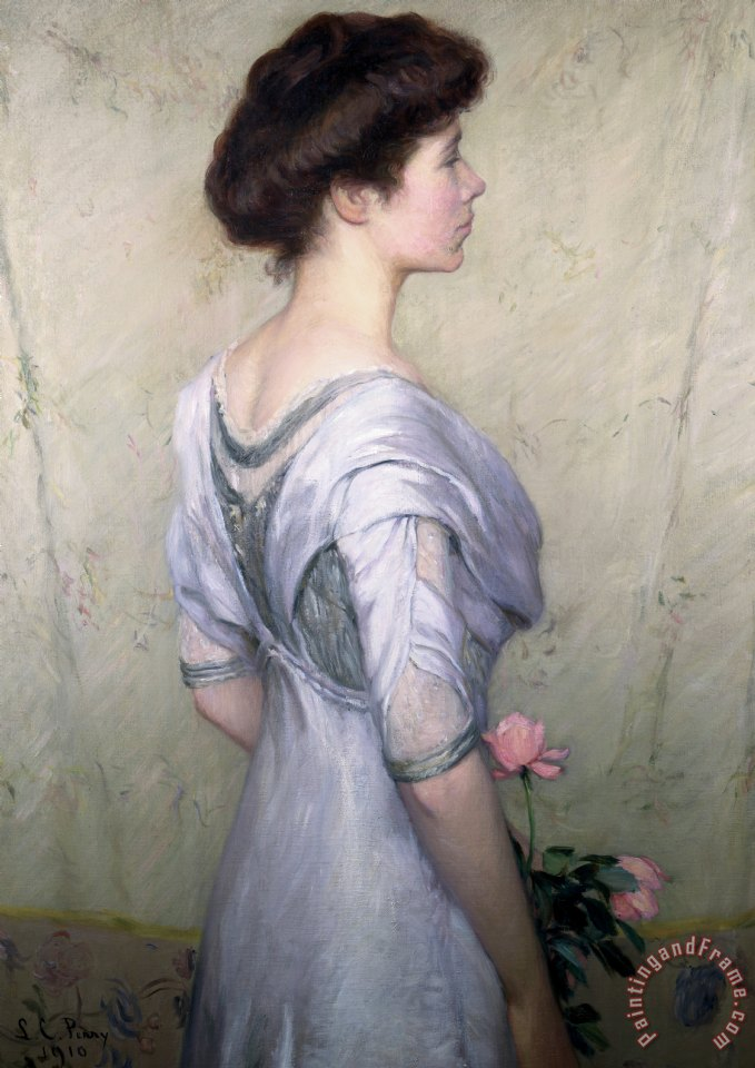 The Pink Rose painting - Lilla Cabot Perry The Pink Rose Art Print