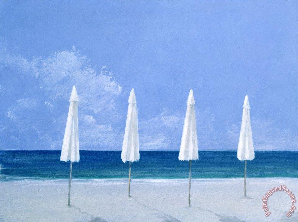 Blue Umbrella Painting Umbrellas Art Painting